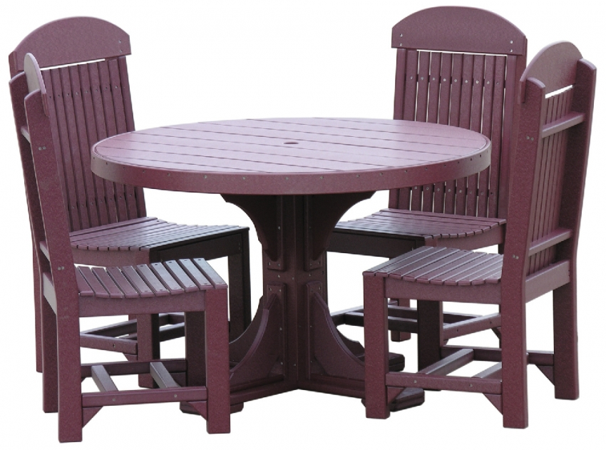 4u0027 Round Dining ...  sc 1 st  Hardy Lawn Furniture & Poly Table Sets | Hardy Lawn Furniture | Amish Built Lawn Furniture ...