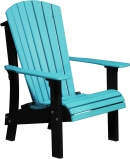 Premium Adirondack Chair - Aruba Blue/Black
